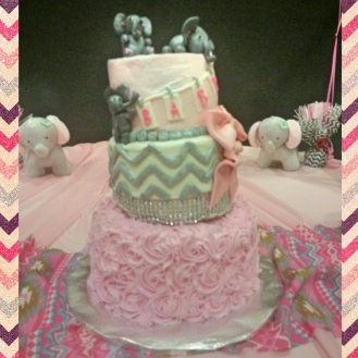 I wish the picture this cake justice - it was possibly the cutest cake ever. The elephants on it... :)